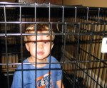 kid in cage