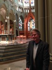 Larry in church
