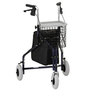 three wheel rolling walker