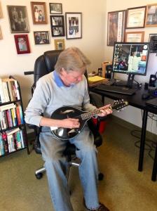 Larry and mandolin Oct.